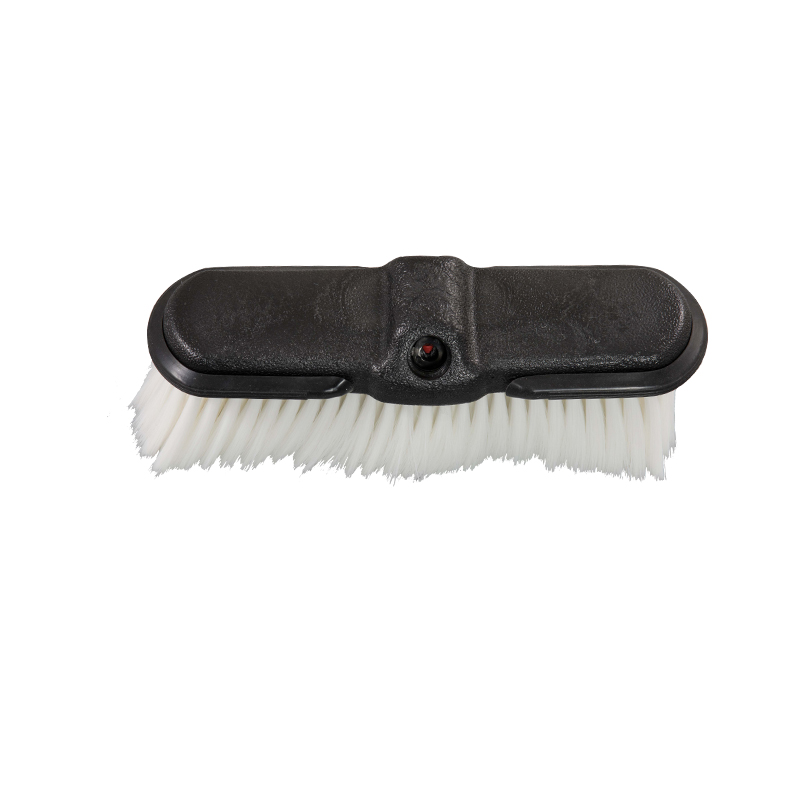 CAR WASH BRUSH HEAD-White Car Wash Brush Head with Bumpers
