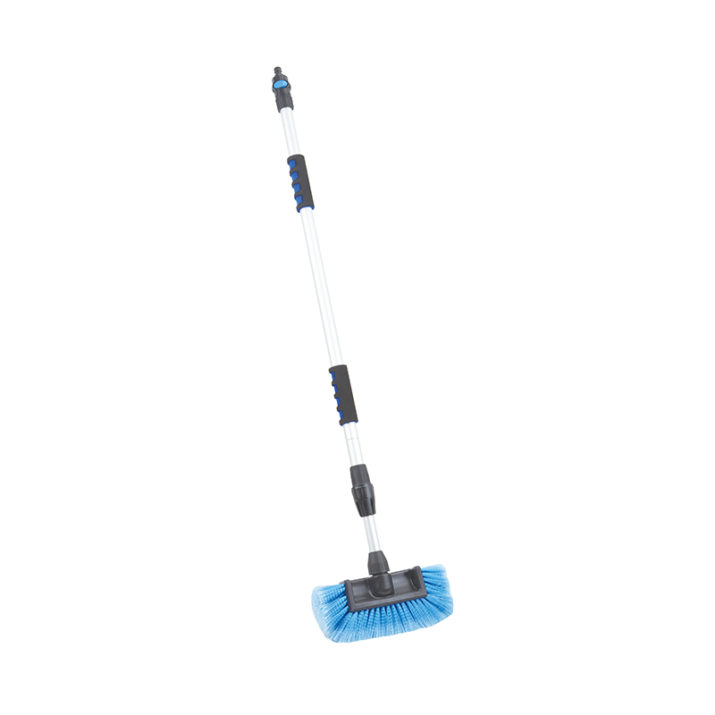 CAR WASH BRUSH-Adjustable Hog Hair Blue Bristle Car Wash Broom