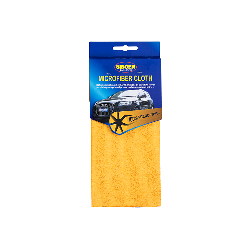 MICROFIBER CLOTH-Mesh Yellow Cloth Microfiber Towel For Car