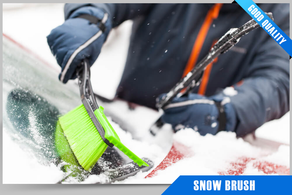 Snow brushes are a great tool for clearing snow from driveways